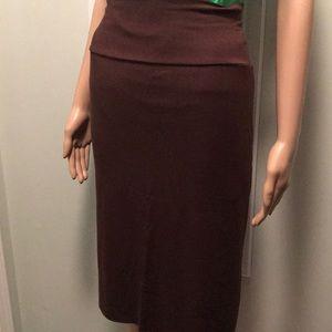 Rachel Pally Brown High Waist Convertible Skirt
